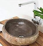 wohnfreuden Naturstein - Waschbecken 40 cm - Steinwaschbecken  Unikat Auswahl nach Kau