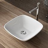 Waschbecken24 DESIGN KERAMIK WASCHTISCH AUFSATZ WASCHBECKEN WASCHPLATZ FÜR BADEZIMMER GÄSTE WC A161