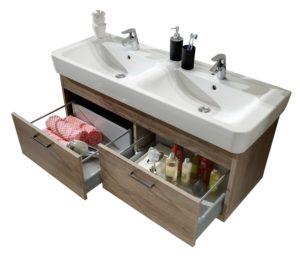 doppelwaschtisch mit unterschrank doppelwaschbecken. Black Bedroom Furniture Sets. Home Design Ideas